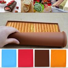 Silicone Oven Baking Mat Roll Functional Baking Macaron Non-stick Cake Pad Swiss Roll Pad Baking Tools For Cakes Silicone Mat цена и фото