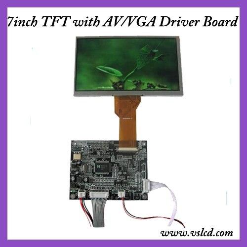 VGA+AV+OSD tft VGA driver board HCR-N1 V2 +7inch  tft lcd module with 800x480 resolution AT070TN92 for car DVR 10 4inch a104sn03 800x600 4 3 tft lcd display vga av driver controller board card