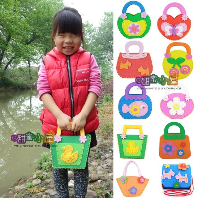 Cartoon Girls Bags Eva 3d Child Toy DIY EVA Handbag Craft Kitskids Bag