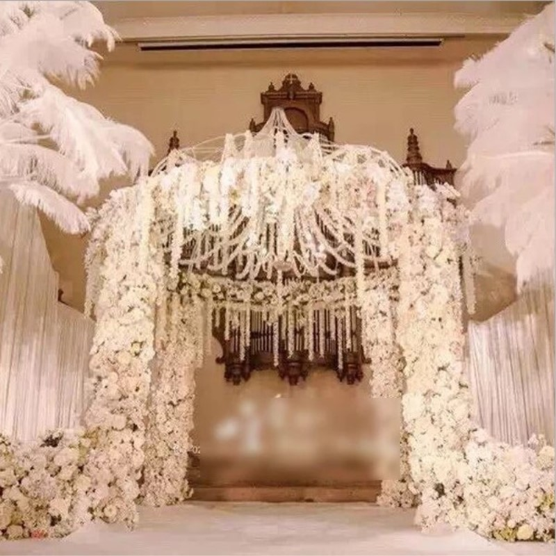Flower Arch For Wedding: Upscale Artificial Flower Hydrangea Wisteria Flowers