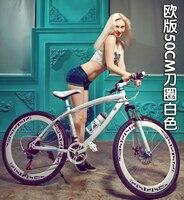Wz01 Free shipping / 26 inch * 21 speed/mountain bike / magnesium alloy one wheel/folding Disc disc brake gear female student