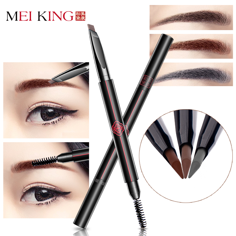 MEIKING Brand Eyebrow Pencil & Brush Eyebrow Enhancer Long Lasting Makeup Pencil To Eye Waterproof Eyebrow Brush Make UP Tool