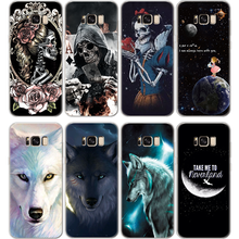 Soft TPU Skull Case For Samsung Galaxy Note 9 8 J2 J3 J5 J7 Prime S5 S6 S7 Edge S8 S9 Plus A3 A5 A6 A8 2016 2017 2018 Wolf Cover(China)