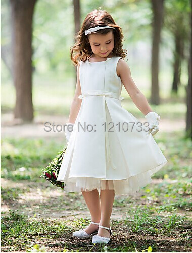 Sheath halter knee length silk flower girl dress 111 in flower girl sheath halter knee length silk flower girl dress 111 mightylinksfo
