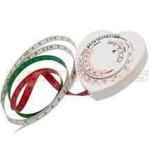 В форме сердца, Индекс Массы Тела ИМТ, выдвижная лента, 150 см, измерительный калькулятор, диета, лента для потери веса, жировой штангенциркуль, массовая лента