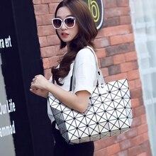 Korean Diagonal bag Fashion single shoulder bags Lingge handbag Luminous lady
