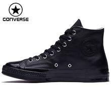 Asli Baru Arrival 2018 Converse Uniseks Papan Luncur Sepatu Tinggi Kanvas  Sneaker Atas 29c244793a