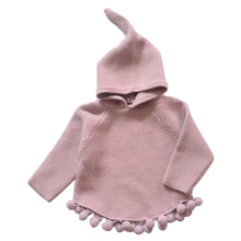 Girls Sweater Baby Hooded Knitted Clothes Winter Children Kid Casual Wool Sleeve W30