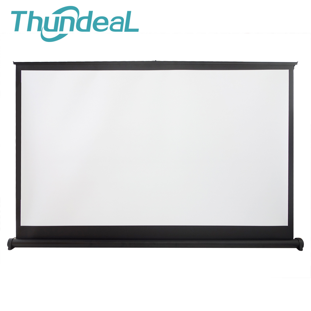 ThundeaL 50 inch 16:9 Projector Screen Portable Matte White Projection Hanging Table Screen For Office Business Meeting Training