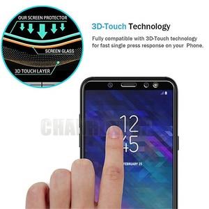 Image 5 - Protector de pantalla de vidrio templado 9H para móvil, película Sklo para Samsung Galaxy A6 2018 A600 A600FN, A6 + A6 Plus 2018 A605 A605FN