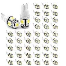 50pcs Super White T10 LED 5SMD 5050 W5W 194 car led light free shipping