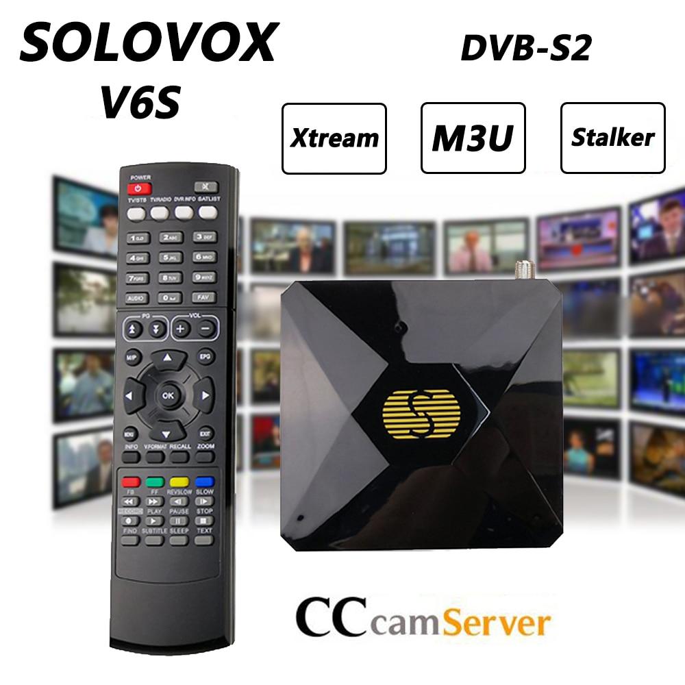 V6S Mini Digital DVB-S2 Satellite Receiver Support M3U WHEEL CCCAM TV Xtream Stalker Powervu Auto-roll TV Turner Receptor S-V6