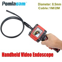 Dia 8.5mm 1M 2M cable Handheld Video Endoscope Borescope camera 99D2 2.3 Color LCD Waterproof Pipe Tube Snake Inspection Camera