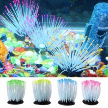 Aquarium Fish Tank Luminous Sea Anemone Artificial Coral Ornament Decoration
