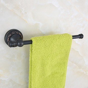 Wall Mounted Black Oil Rubbed Antique Brass Bathroom Single Towel Bar Towel Rail Holder Bathroom Accessory mba460 free shipping solid brass orb oil rubbed bronze bath form bathroom holder soap dishes wall mounted holder rack