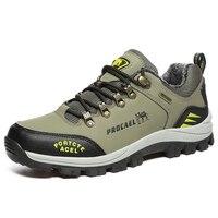 2017 עור נעלי ספורט וטיולים הרי גברים עם פרווה חם חורף חמים נעלי ספורט גברים נעלי טרקים חורף חיצוני מעקב