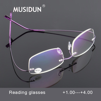 c3acae7e0b Ultraligero sin montura gafas de lectura hombres mujeres lente HD presbicia  anteojos Diopter + 1,0 + 1,5 + 2,0 + 2,5 + 3,0 + 3,5 + 4,0 Q0