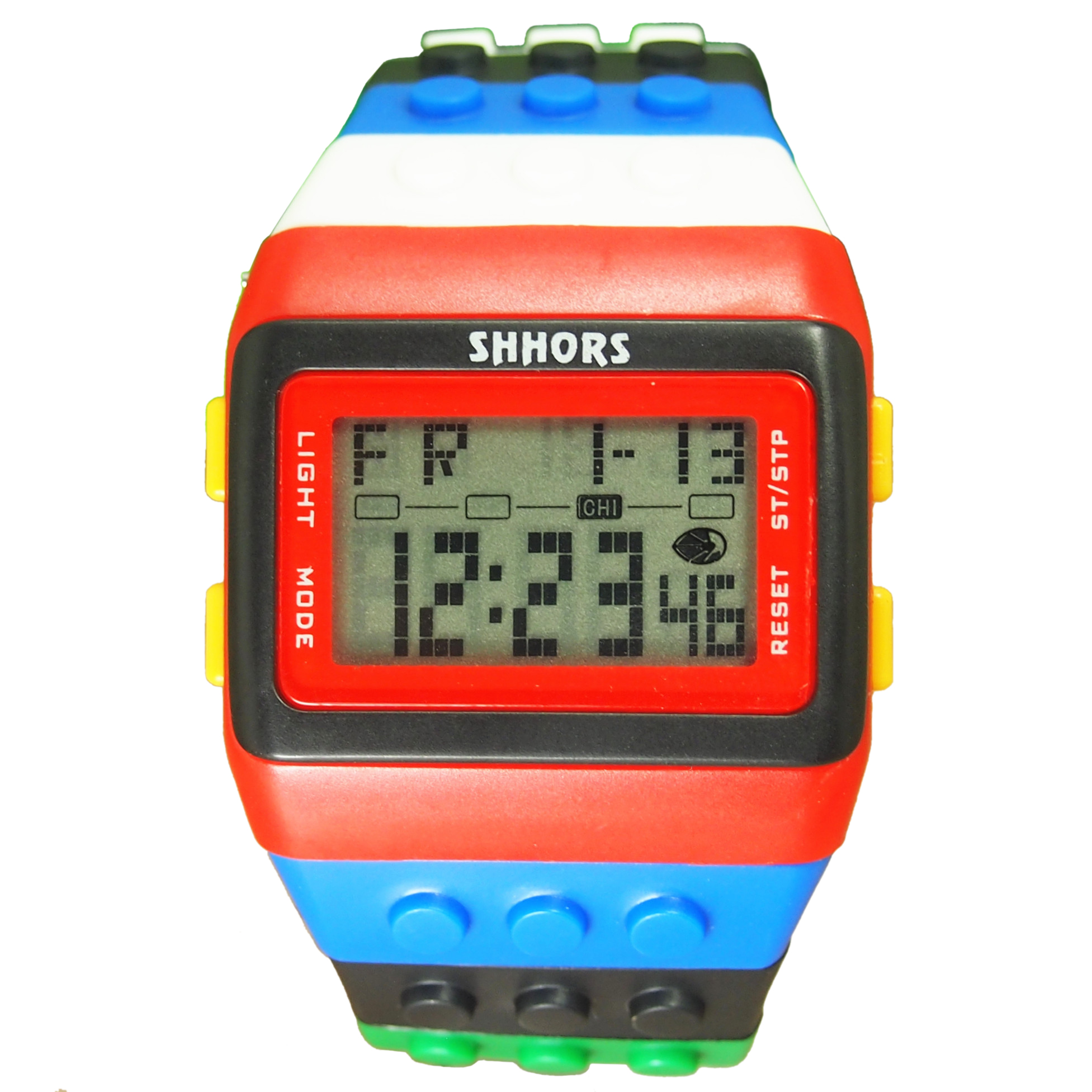 SHHORS Rainbow Color Multifunction Waterproof LED Children Wrist Watch Swimming Sports Watch Digital Wrist Watch (style 3) diray dr 306g children digital watch