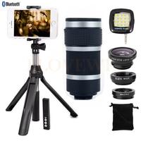 Mobile Lens Kit Fish Eye Wide Angle Macro Lentes 8X Zoom Telephoto Lenses Telescope For Xiaomi