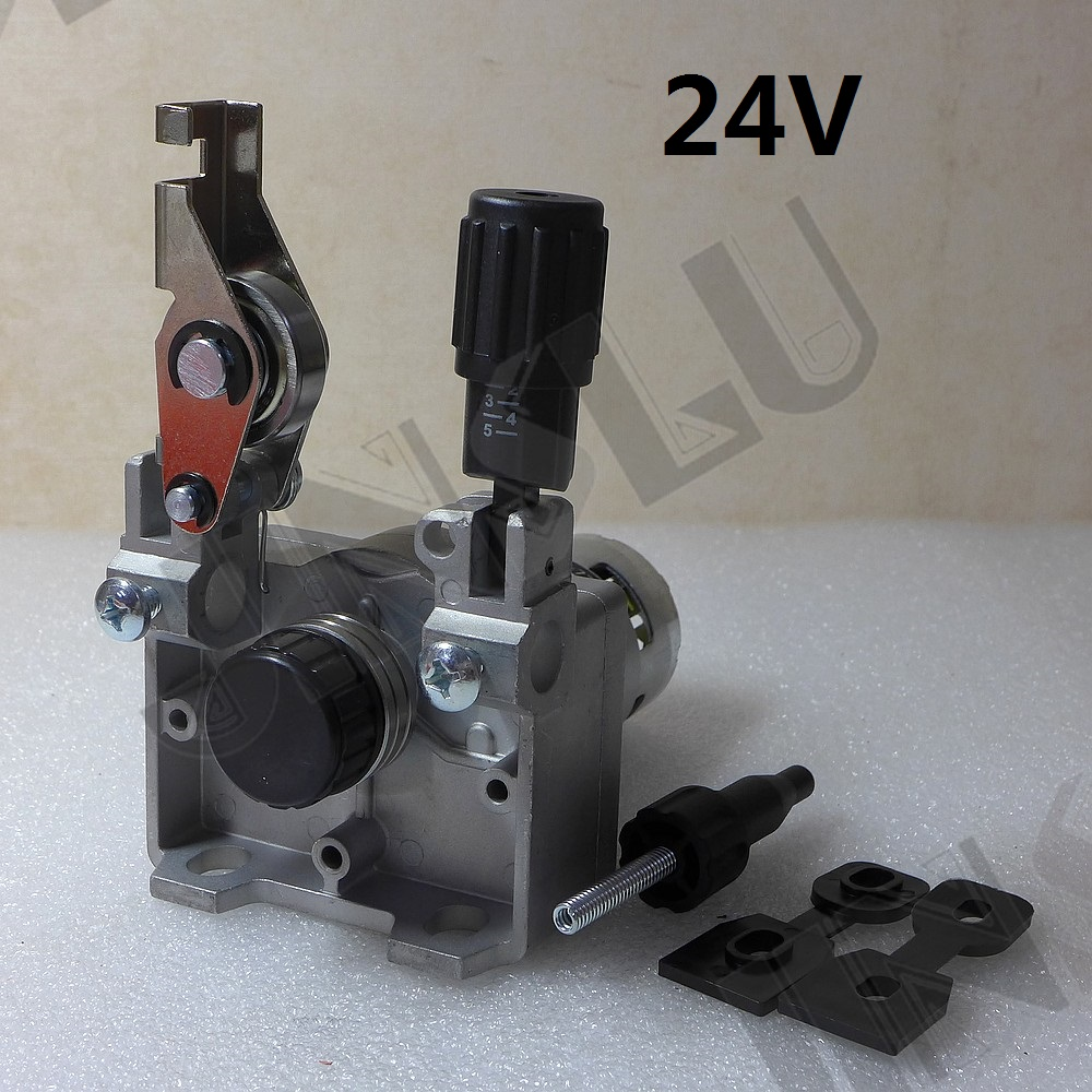 24V 0.8-1.0mm ZY775  Wire Feed Assembly Wire Feeder Motor MIG MAG Welding Machine Welder without Connector MIG-160 JINSLU professional 24v wire feed assembly 0 6 0 8mm 023 03 detault wire feeder mig mag welding machine european connector en60974