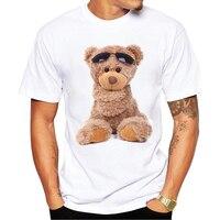 2017 Latest Popular Printing Design Teddy Bear Summer T Shirt Cool Men Summer Shirt Brand Fashion