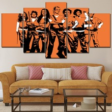 Modern Home Decor One Set 5 Pieces TV Show Orange Is the New Black  Poster Canvas Print Painting Artwork Wall Modular Picture