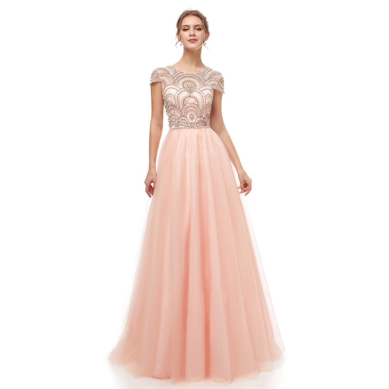 bc929a914a Real Photo Formal Gown See Through Back Beading Handwork Chiffon ...