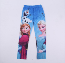 Cartoon Elsa Girls Leggings 2016 Cute Snow Queen Baby Kids Leggings Autumn Girl Legging Children Trousers Spring Boys Pants