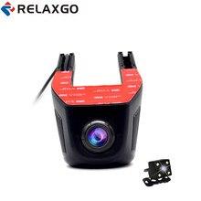Buy online Relaxgo Mini Car DVR Wifi Video Recorder Dual Lens Full HD 1080P Car Camera Dashcam Camcorder Night Vision Auto Registrator