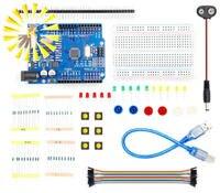Conjunto novo Starter Kit UNO R3 1 mini Breadboard botão jumper LED Conector