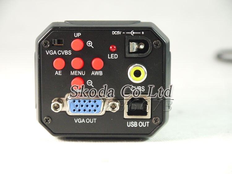 Free shipping HD 2.0MP 3 in1 Digital Industrial Microscope Camera VGA CVBS USB AV TV Outputs for PCB lab Rework цена