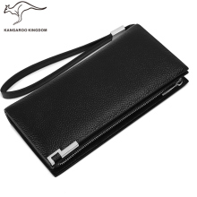 Kangaroo Kingdom Luxury Genuine Leather Men Wallet Long Business Male Brand Clutch Purse