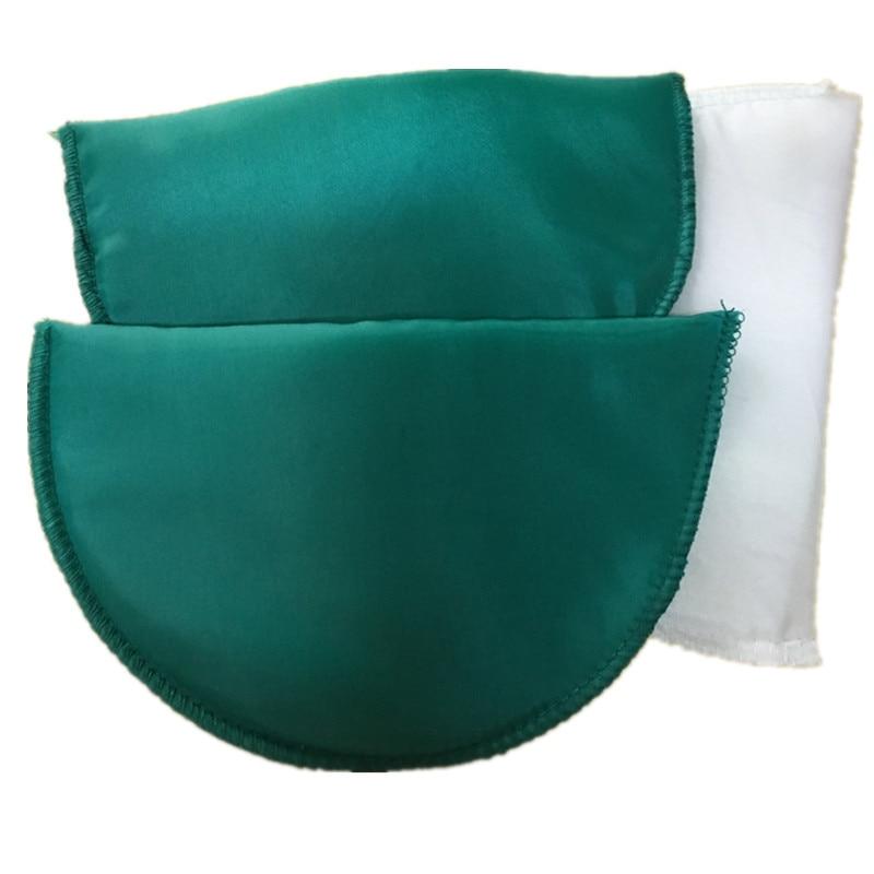 1 пара Высококачественная губчатая Наплечная подкладка для женщин блейзер футболка ветровка одежда аксессуары около 16*10*1 см - Цвет: green