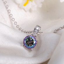 Beagloer New Arrival Glamorous Rainbow Mystic Cubic Zircon Silver Color Jewelry Sets Earrings Pendant Ring For Women Party V156
