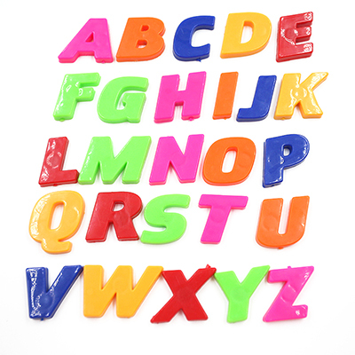 26pcs 26 Letters  A-Z Educational 3D English Alphabet Stickers DIY Number Stickers Letters Stickers Whiteboard Baby Child Toy