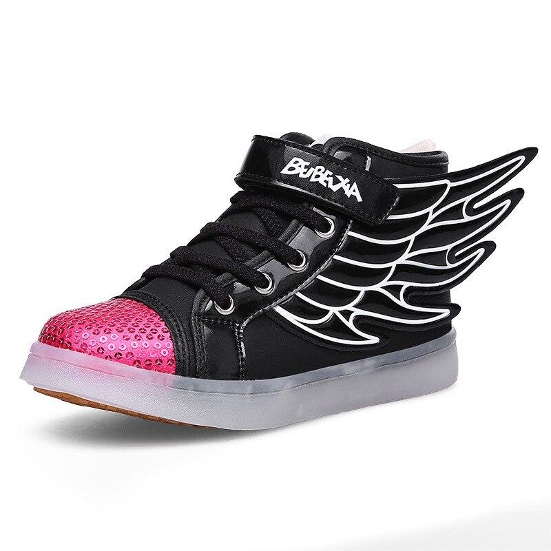 f1d76ddbbb8e11 Boys Girls Led Light Wings Shoes for Children Fashion Kids Usb Charging  Luminous Sneakers Autumn Winter Glowing Shoes - aliexpress.com - imall.com