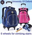 University of Oxford Children Trolley backpack  Night Reflective waterproof wheeled school bag For girls and boys