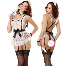 2018 Sexy Women Halloween Costumes Dress Maid Lace Lingerie