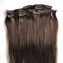 clip in human  Hair Extension Natural Human Hair 100% Remy Brazilian Virgin Hair Product with Clip in – 30 Colors Available