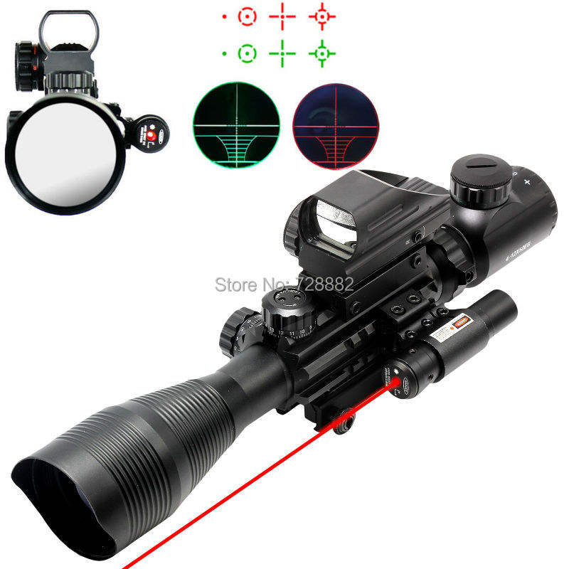 Tactical 4-12X50EG Scope Riflescope Air Rifle Optics Red Green Illuminated Sight Scope w/ Holographic 4 Reticle Sight парка mango man mango man he002emafnn2