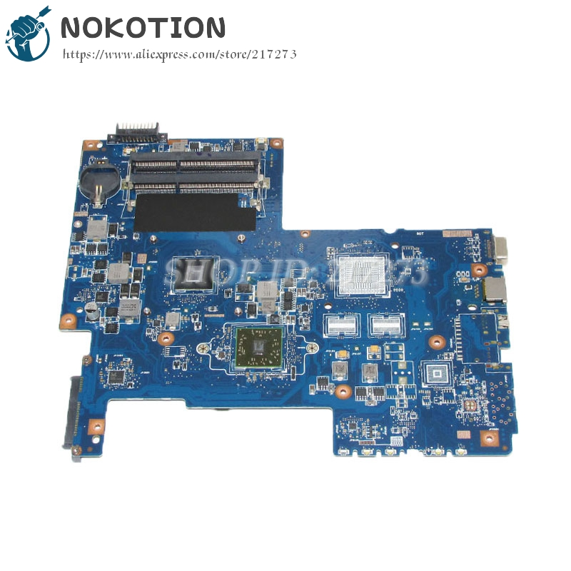 NOKOTION Laptop Motherboard For Toshiba Satellite C670 C670D Main Board ddr3 with cpu onboard PN 08N1-0NG0G00 nokotion genuine h000064160 main board for toshiba satellite nb15 nb15t laptop motherboard n2810 cpu ddr3