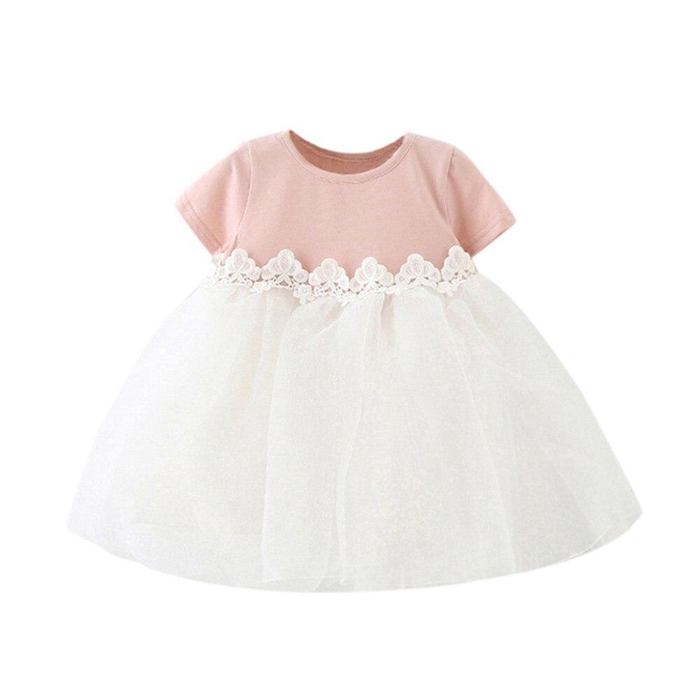 Girls Dress Vestidos Tutu Summer Pink Ball Gown Tulle Princess Kids Dresses For Party Wedding Girls Baby Clothes Toddler 19Jan29