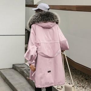 Image 2 - Winter Jacket Women Brand 2020 Long Parka Natural Raccoon Fox Fur Collar Hooded Real Fur Coat Female Warm Snow Coats
