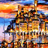 Good Morning Town Alone The River DIY Painting By Numbers Kits Coloring Painting On Canvas Handpainted