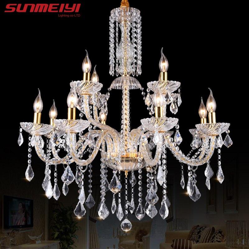 Lampadario moderno a cristallo Illuminazione Lampadari di lusso in - Illuminazione per interni
