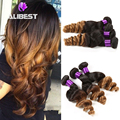 6A Brazilian Ombre Hair Extensions Cheap 2pcs/lot Brazilian Virgin Hair Loose Wave 100% Brazilian Loose Wave Curly Ombre Hair