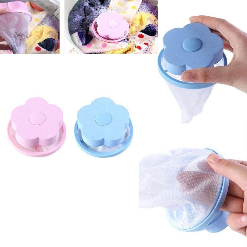 Warna Mengambang Bulu Hewan Peliharaan Penyaringan Rambut Penangkap Filter Laundry Bola Cakram Alat Pembersih