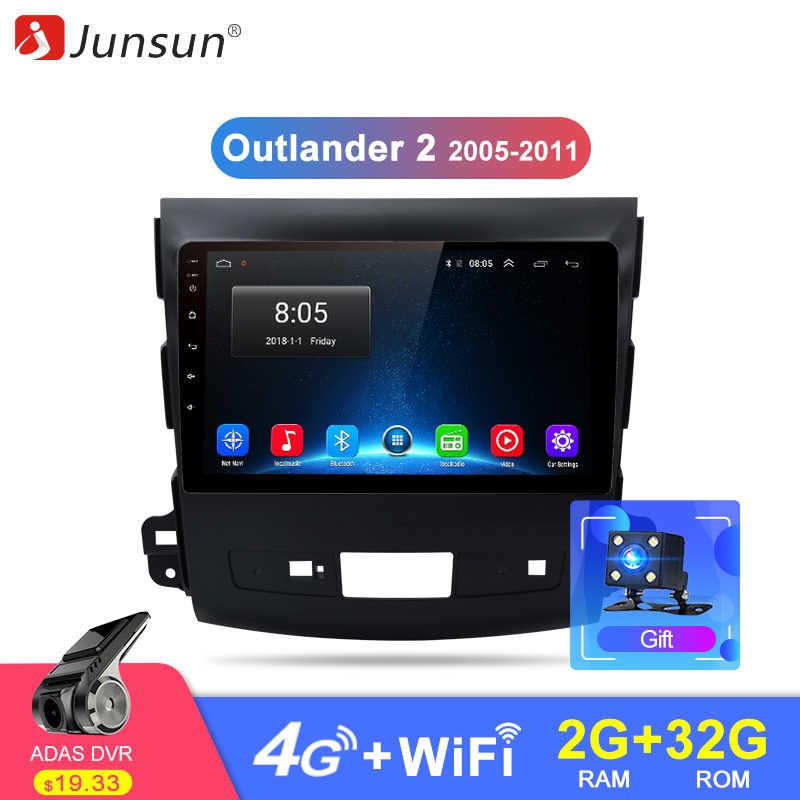 Junsun 2G + 32G Android 8,1 4G Автомобильный Радио мультимедийный плеер навигация gps для Mitsubishi Outlander xl 2 2005-2011 2 din без DVD