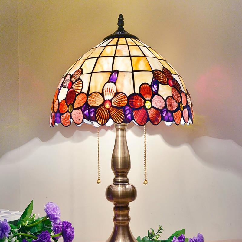 BOCHSBC Art Deco Bureau Led Lamp Pioen Shell Tafel Lichten Europese tafel Lampada da tavolo Lamp Voor Woonkamer Studeerkamer Slaapkamer - 4