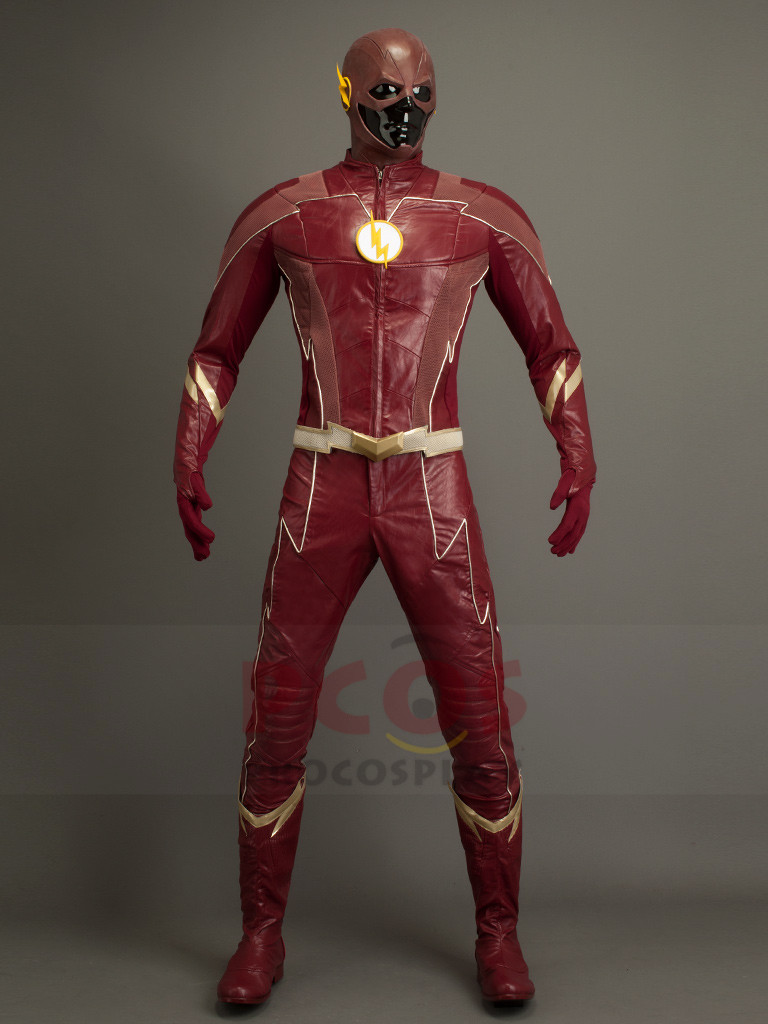 <font><b>The</b></font> <font><b>Flash</b></font> Season 4 Barry Allen <font><b>Cosplay</b></font> Costume & <font><b>Boots</b></font> mp003915 image